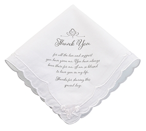 Women's Thank You Hankie