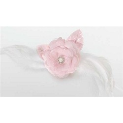 Lace/Feather Hair Clip/Pin-Pink