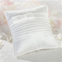 White Pleated Ring Pillow