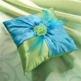 Blue/Green Ring Pillow