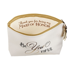 Be You Tiful Maid of Honor Cosmetic Makeup Bag