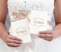 Set of 2 Ivory Satin Vows Books