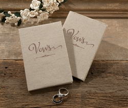 Set of 2 Tan Vows Books