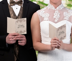 Set of 2 Tan His/Her Vows Books