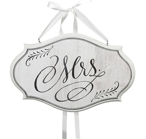 """Mrs."" Chair Sign (White)"
