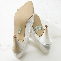 """I Do"" Blue Shoe Stickers"