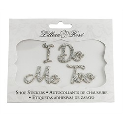 I Do, Me Too Shoe Stickers