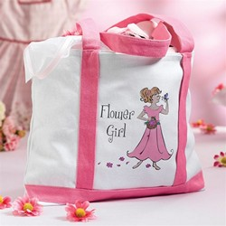 Flower Girl Large Canvas Tote Bag