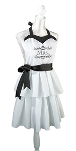 """Mrs."" White Apron"