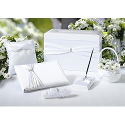 White Sash Wedding Set  (6pcs)