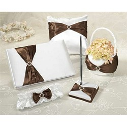 Brown Satin Wedding Set  (5pcs)