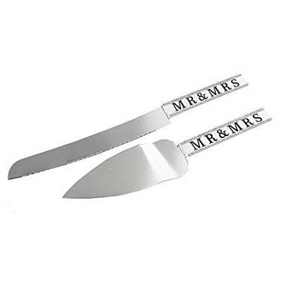 Mr & Mrs Cake Server and Knife Set