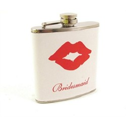 6oz Bridesmaid/Lips Flask