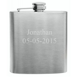Traditional 6 oz Stainless Steel Flask