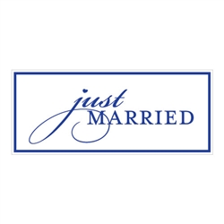 Just Married License Plate (over 20 colours to choose from!)