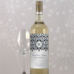 Lavish Monogram Wine Label