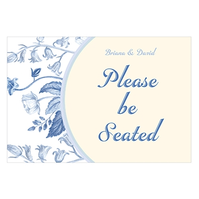 "Vintage Romance ""Please Be Seated"" Directional Poster"