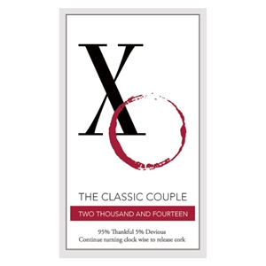 Classic Couple Rectangular Sticker (set of 2)