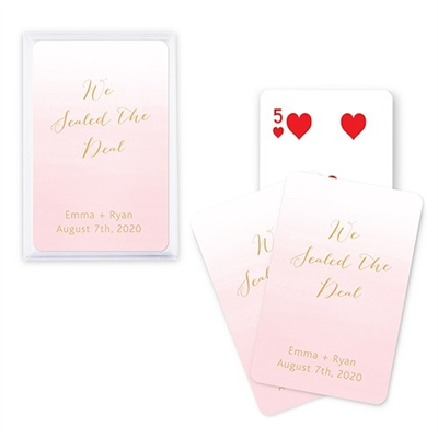 Custom Playing Card Favors - Aqueous Design (7Colors)
