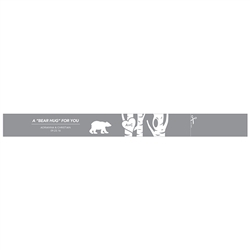 Bear Hug Salt & Pepper Shaker Paper Ribbon Wrap With Sticker (pkg of 16)