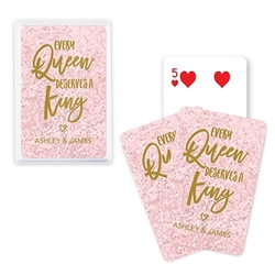 Custom Playing Card Favors - Custom Playing Card Favors - Every Queen Deserves A King Design Design