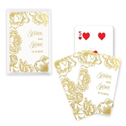 Custom Playing Card Favors - Modern Floral Design