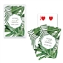 Custom Playing Card Favors - Tropical Leaf Design