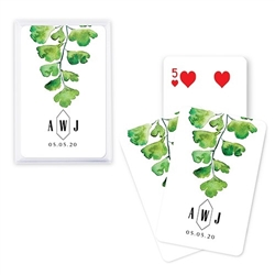 Custom Playing Card Favors - Greenery Design
