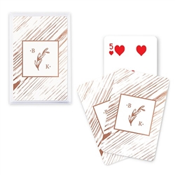 Custom Playing Card Favors - Rustic Monogram Design