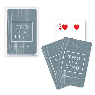 Custom Playing Card Favors - Two Of A Kind Design