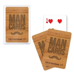 Unique Custom Playing Card Favors - Man Cards Design