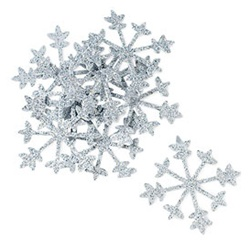 Sparkle Snowflakes in Silver (Set of 12)