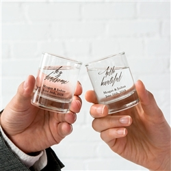 Personalized Votive Holder / Short Shot Glass - Printed