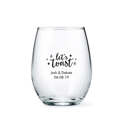 Personalized Stemless Wine Glass Wedding Favour - Small