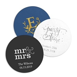 Personalized Paper Coasters - Round (pkg of 100)