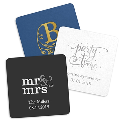 Personalized Paper Coasters - Square (pkg of 100)