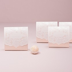 Pretty Lace Favor Box - Blush (Package of 10)