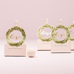 Love Wreath Favor Box With Ribbon (Package of 10)