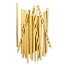 Gold Foil Fancy Paper Drinking Straws (pkg of 25)