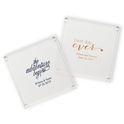 Personalized Glass Coaster Party Favor