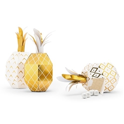 Tropical Pineapple Party Favour Boxes (pkg of 12)
