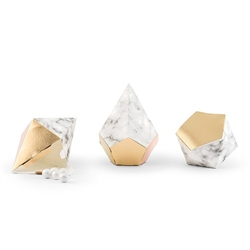 Gold And Marble Geo Favour Boxes  (pkg of 12)
