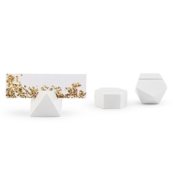 White Geometric Card Holder - Assortment (pkg of 6)