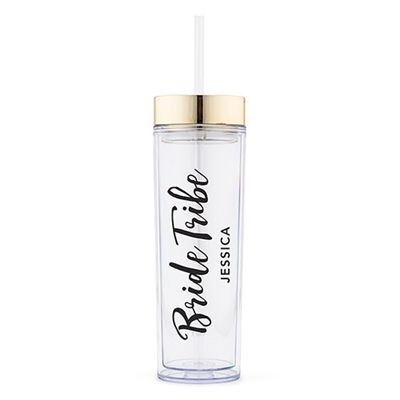Bridal Party Drink Tumbler - Bride Tribe Printing