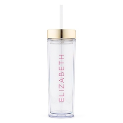 Personalized Plastic Drink Tumbler - Contemporary Vertical Line Printing