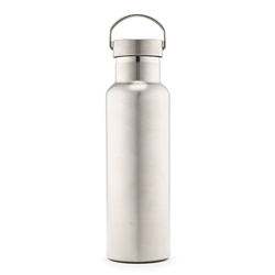 Chrome Water Bottle With Handle