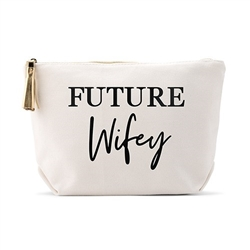 Personalized Canvas Cosmetic And Toiletry Bag For Women - Future Wifey Design( 2 sizes)