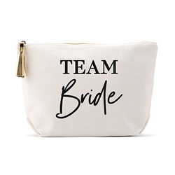 Personalized Canvas Cosmetic And Toiletry Bag For Women - Team Bride Design( 2 sizes)
