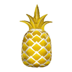 Mylar Foil Helium Party Balloon Decoration - Giant Metallic Gold Pineapple - Celebrate