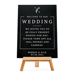 Personalized Wedding Chalkboard Sign - Rustic Love Design